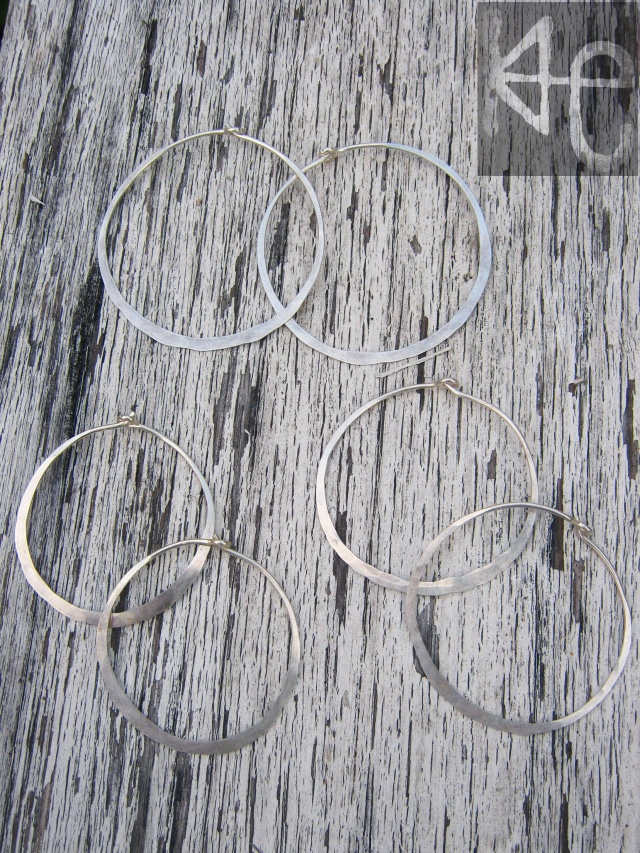 Circulation Earring Hoops 3 sizes WM