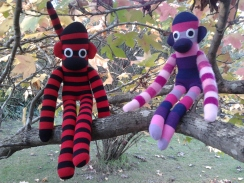 Make it Wednesday's sock monkeys