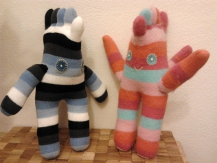 Make it Wednesday's sock monsters