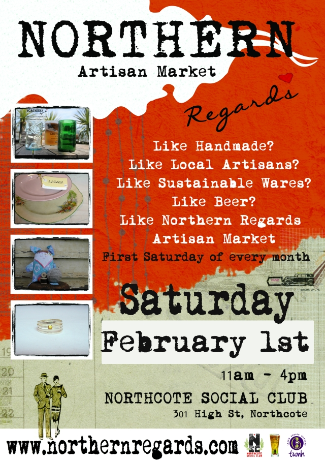 NorthernRegards Market poster February 2014