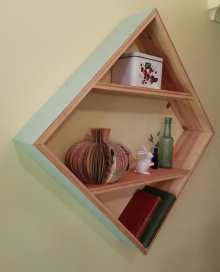 This Way Upcycle - Diamond wall shelf