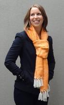 Jackie Moscovitch Mother's Shawl Orange 2 v2
