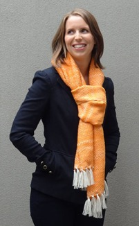 Jackie Moscovitch Mother's Shawl Orange 2 v2